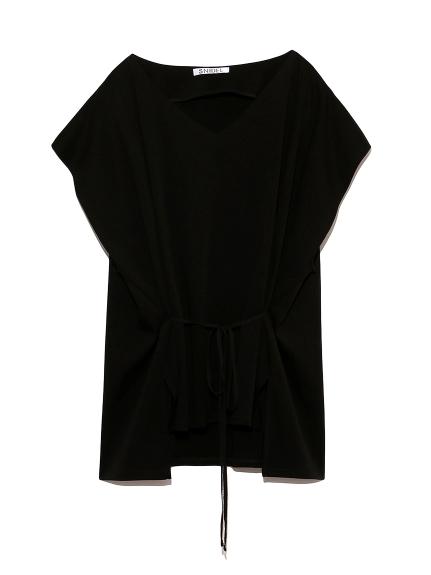フレアスリーブTシャツ(BLK-F)
