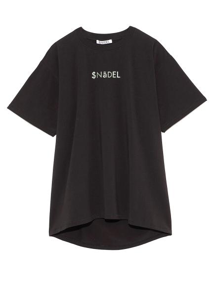 フォイルプリントTシャツ(BLK-F)