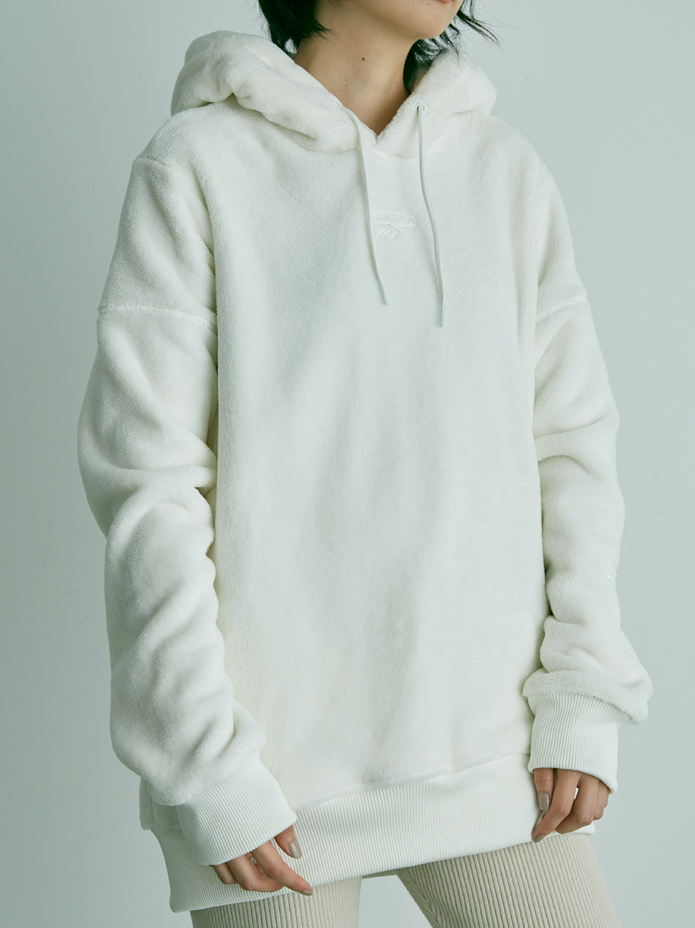CLASSIC SNIDEL Boyfriend Hooded Top(WHT-S)