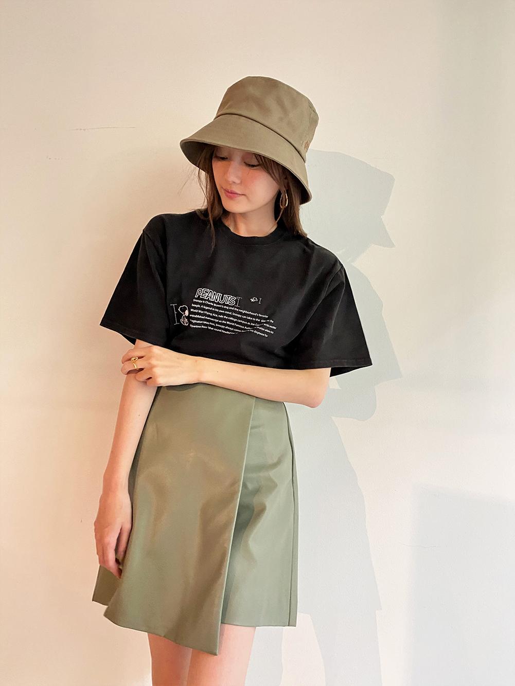 【SNIDEL meets PEANUTS】Tシャツ(BLK-F)