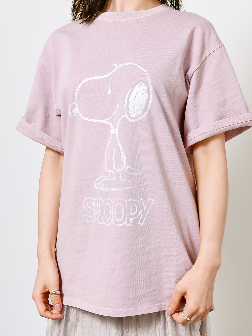 【SNIDEL meets PEANUTS】Tシャツ(LAV-F)