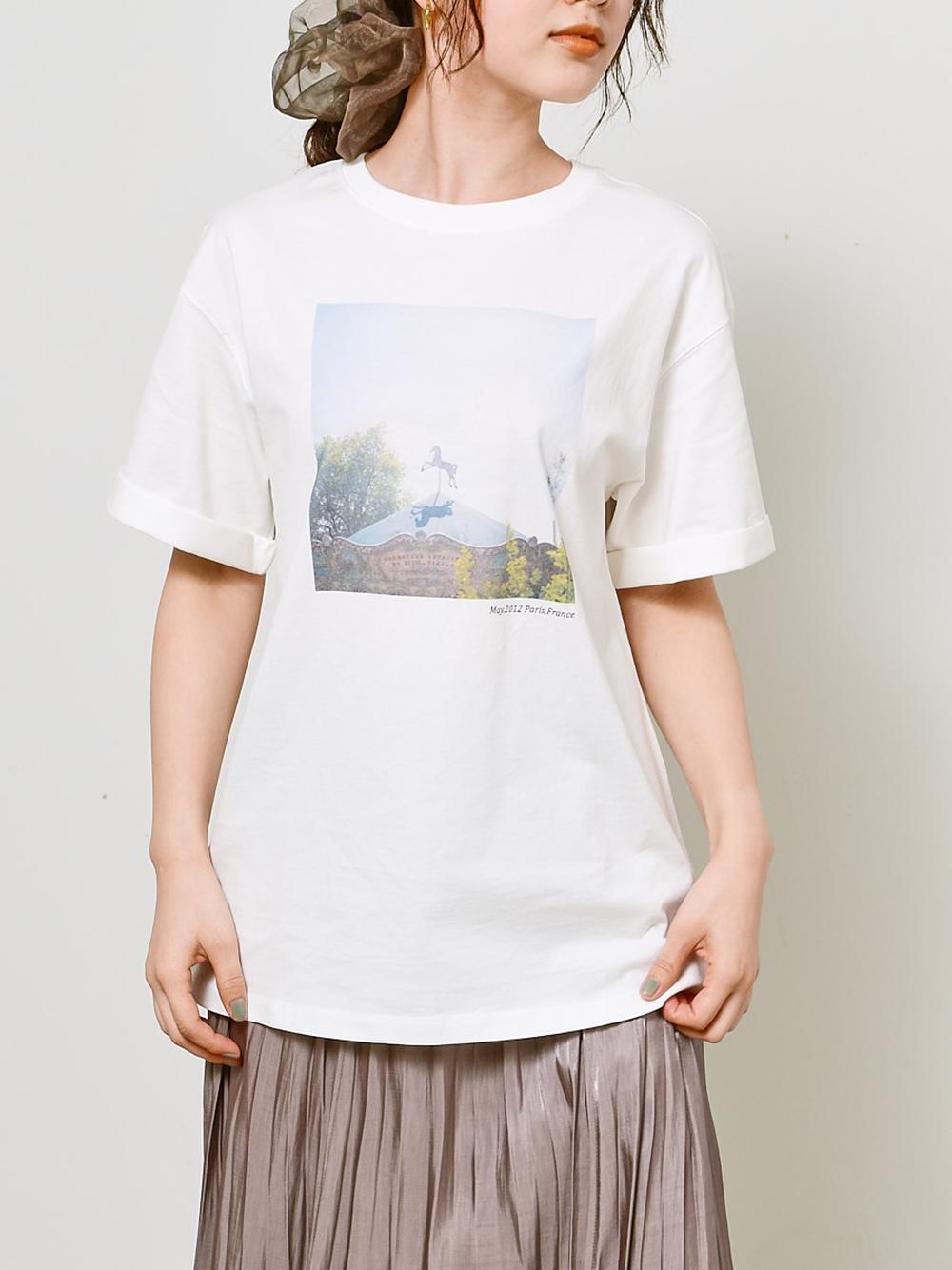 【SNIDEL meets Jun Imajo】コラボフォトTシャツ(A-F)