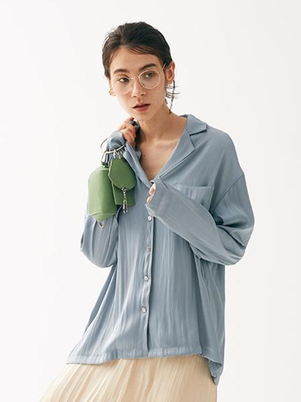 サテンシャツ(LBLU-F)