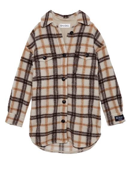 ウールチェックシャツジャケット