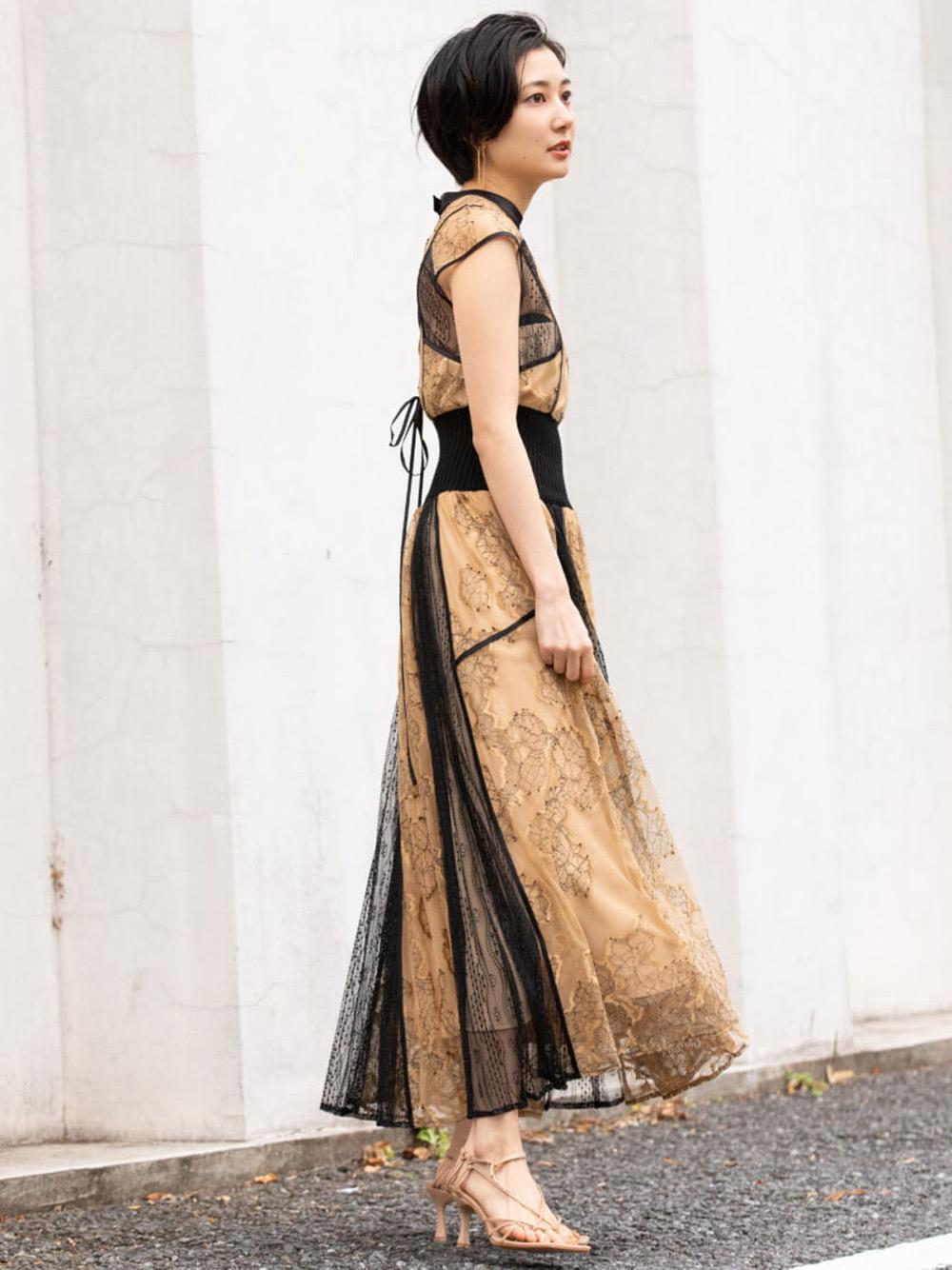 スィッチングレースドレス(BEG-0)