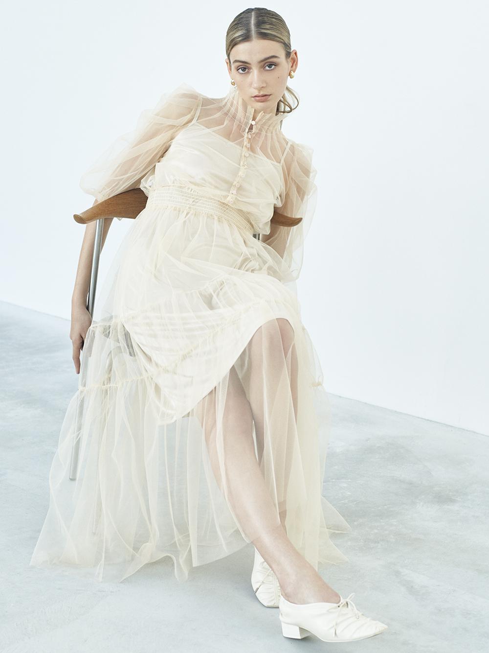 Sustainableチュールティアードドレス