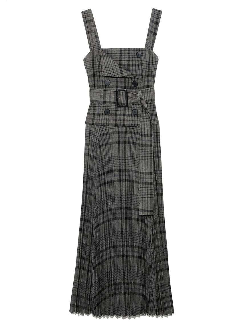 トレンチジャンパースカート(CHECK-0)