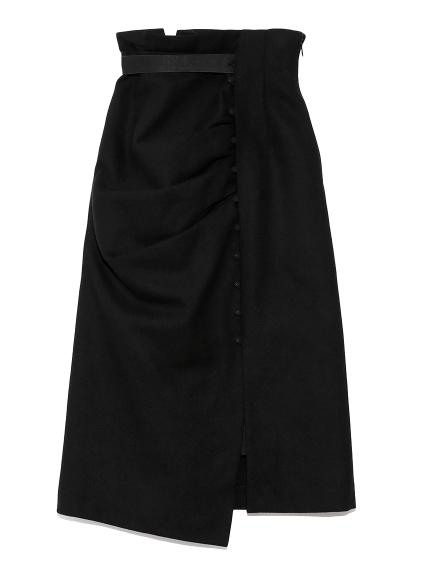 ドレープデザインタイトスカート(BLK-0)