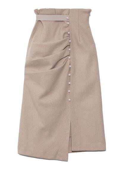 ドレープデザインタイトスカート(BEG-0)