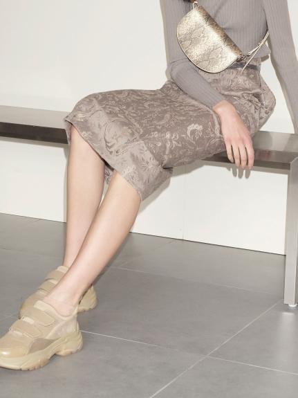 ジャガードミドルタイトスカート