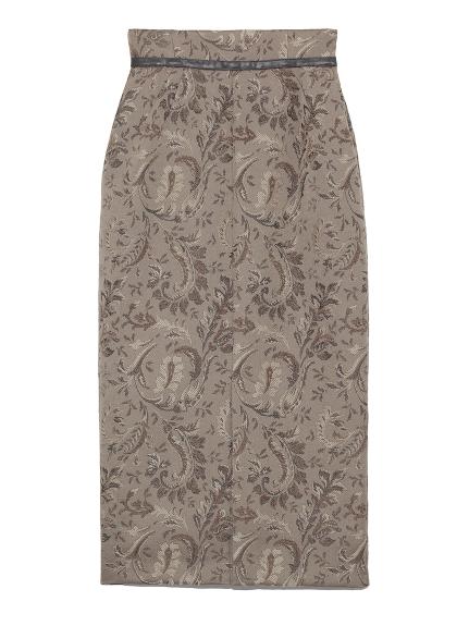 ジャガードミドルタイトスカート(GRY-0)