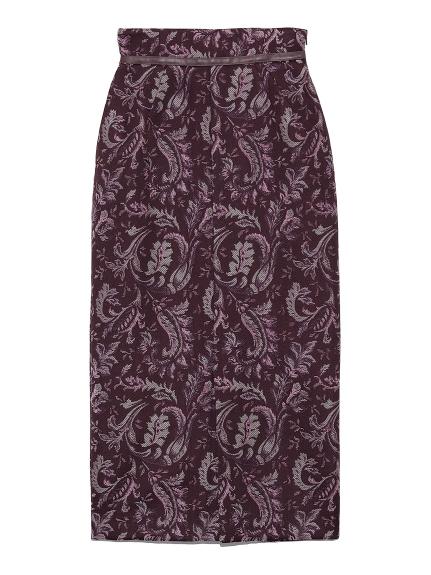 ジャガードミドルタイトスカート(PPL-0)