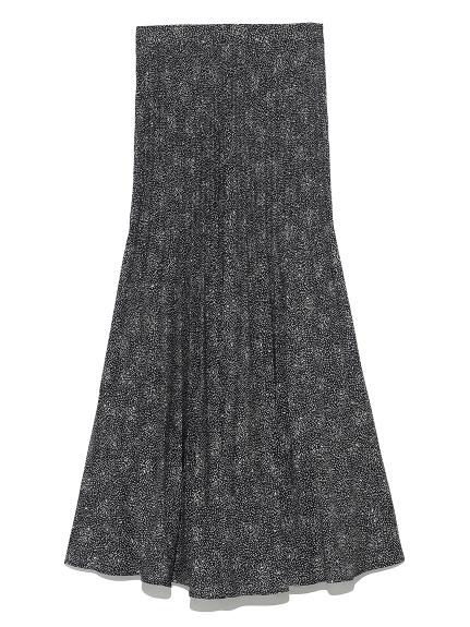 ランダムプリーツプリントスカート(BLK-0)