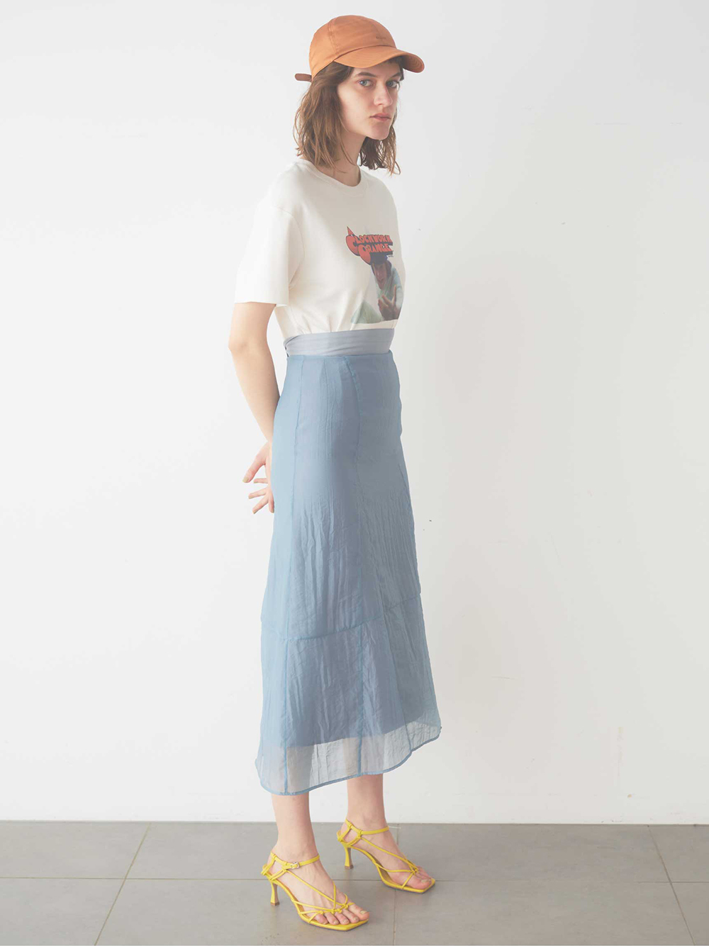 オーガンジーデザインスカート