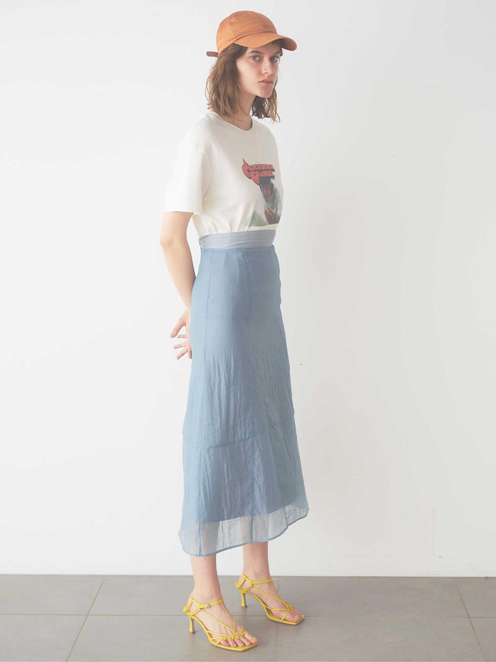 オーガンジーデザインスカート(GRY-0)