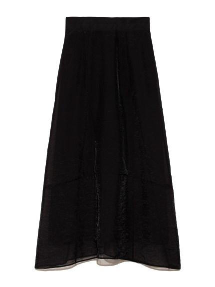 オーガンジーデザインスカート(BLK-0)