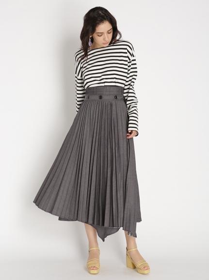 プリーツレイヤードスカート(BLK-0)