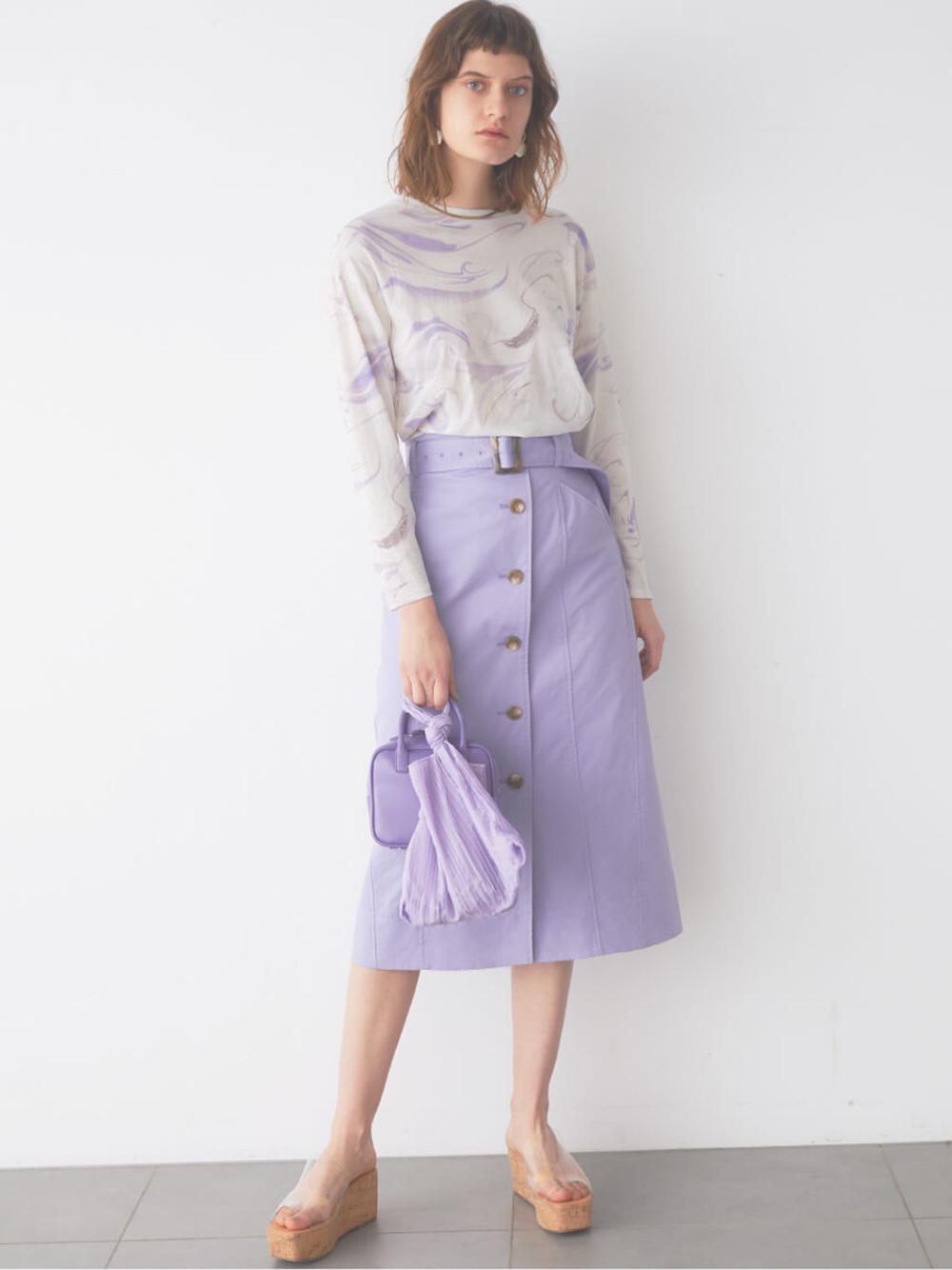 Iライントレンチスカート(SAX-0)