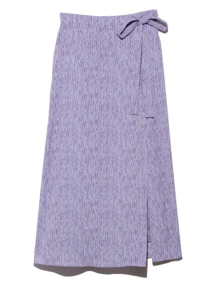プリントラップスカート(BLU-0)