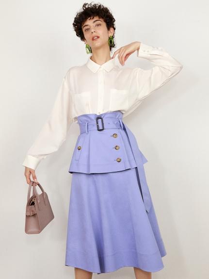 フレアミドルトレンチスカート