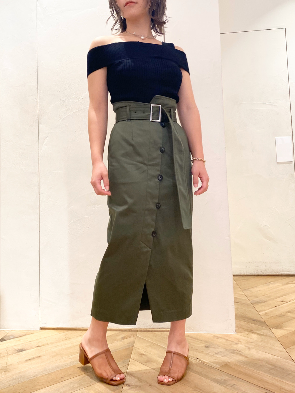 アシメデザインタイトスカート(GRN-0)