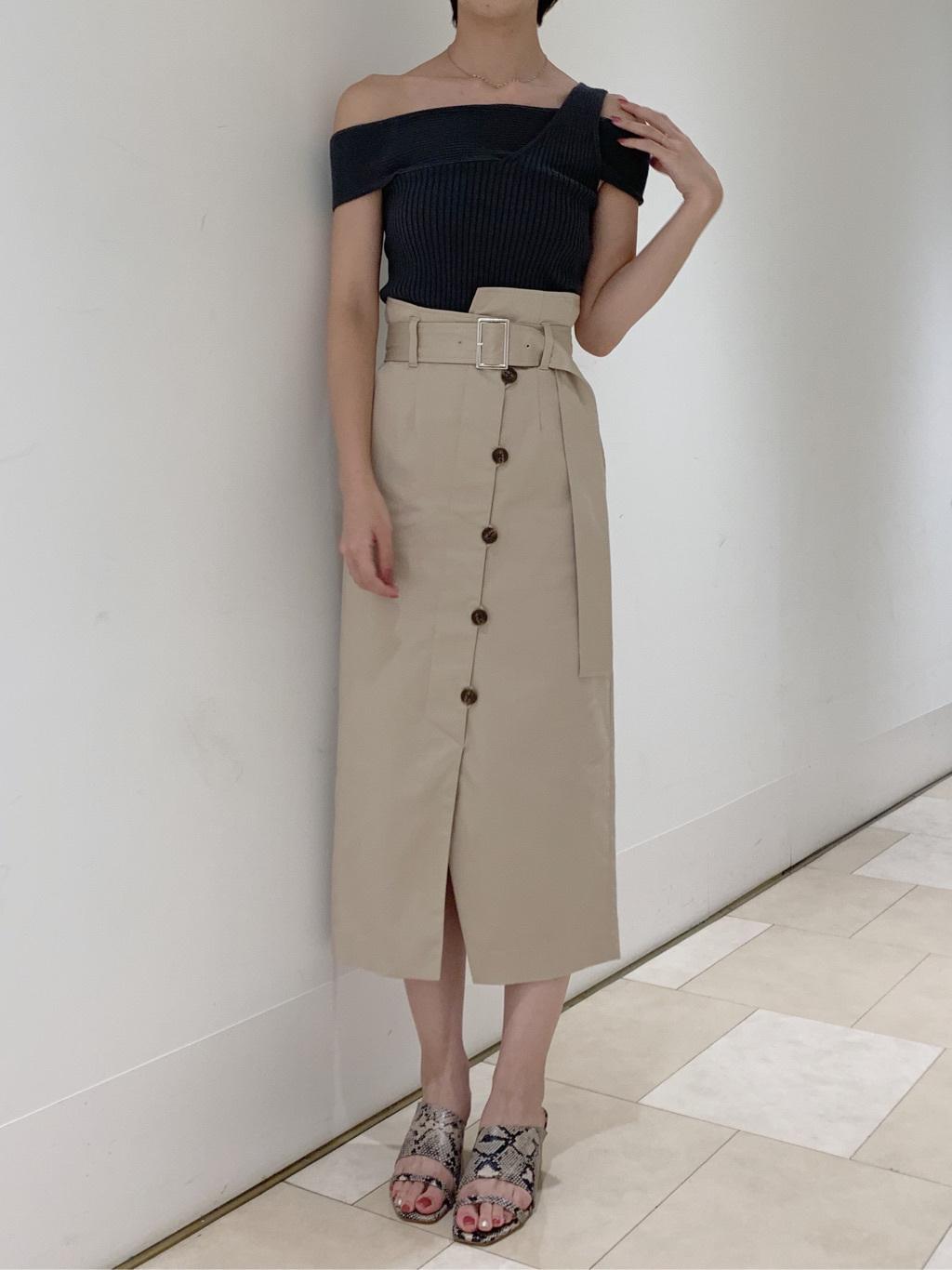 アシメデザインタイトスカート(LBEG-0)