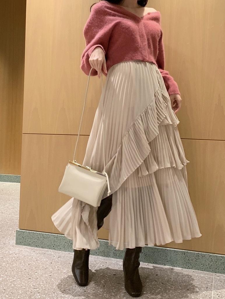 シアーボリュームプリーツスカート