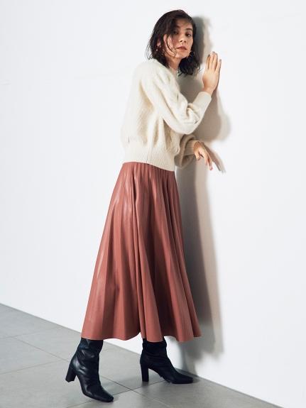 レザープリーツスカート(BPNK-0)