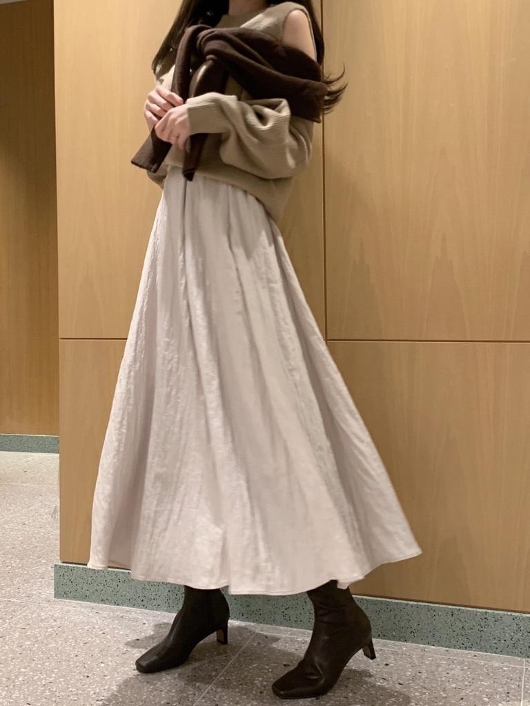 シャイニープリーツスカート(IVR-F)