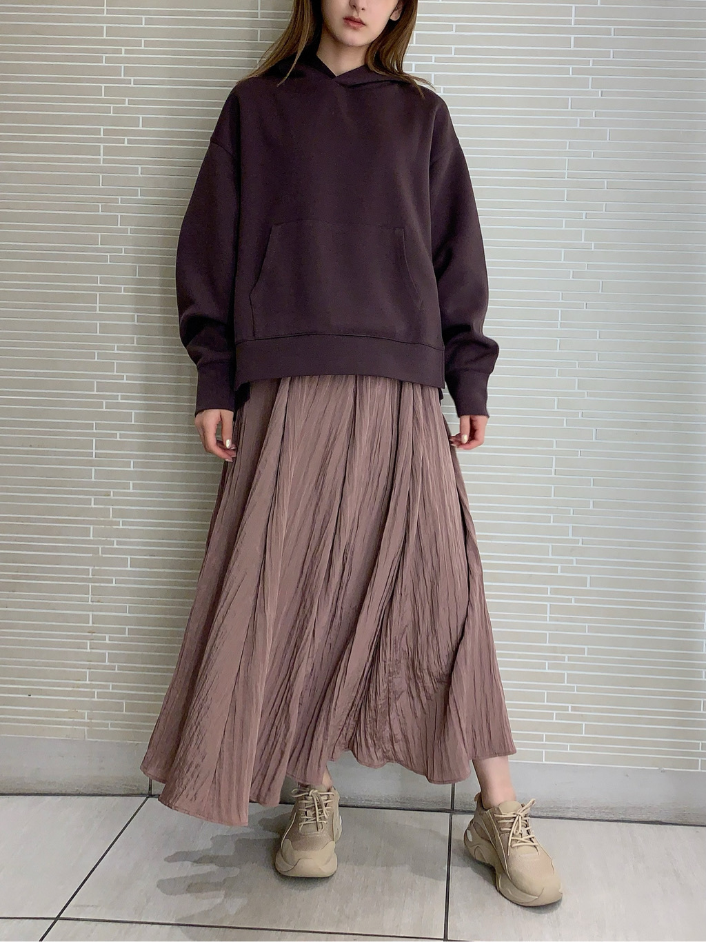 シャイニープリーツスカート(PNK-F)