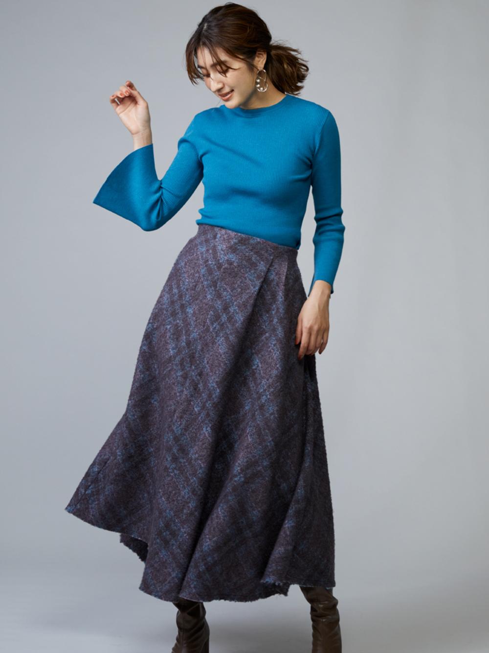 アシメントリーデザインスカート(BLU-0)