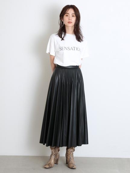 レザープリーツスカート(BLK-0)