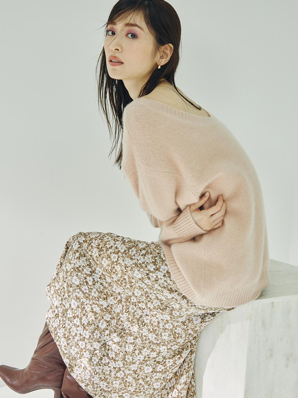 バリエプリントナロースカート