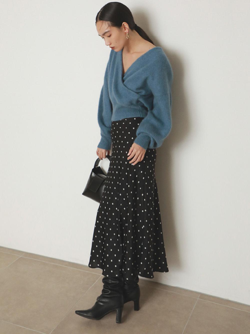 バリエプリントナロースカート(BLK-0)