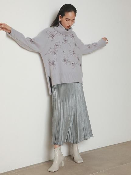 シャイニープリーツナロースカート(LGRY-0)