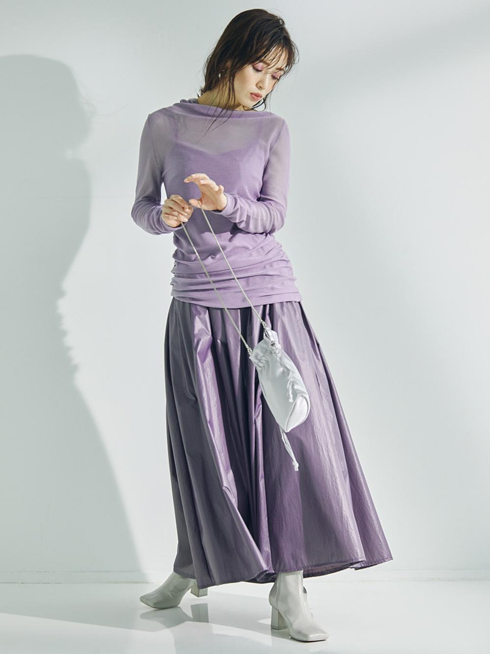 シャイニーボリュームスカート