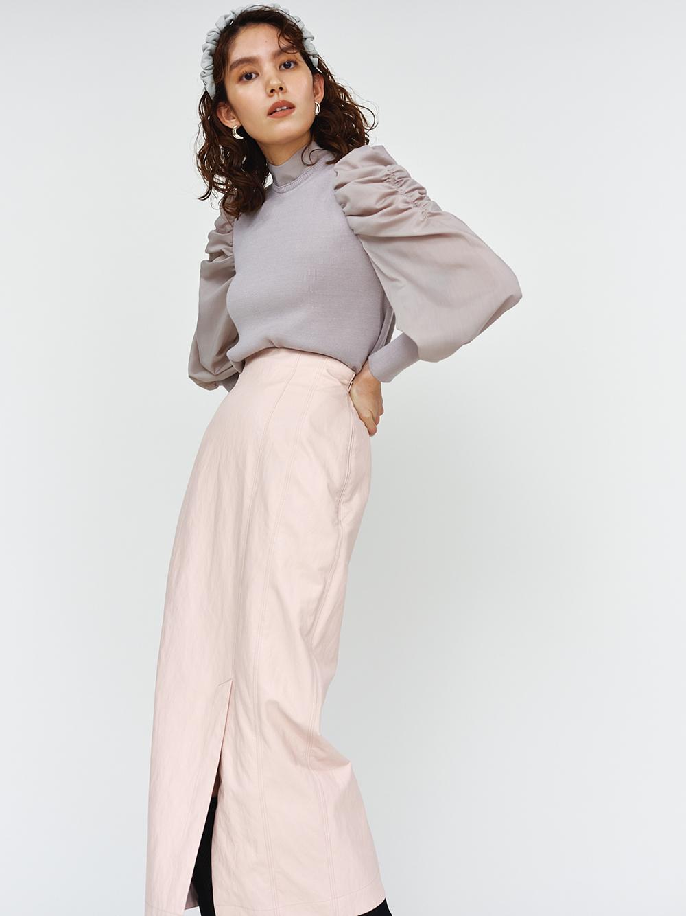 FAUXレザータイトスカート