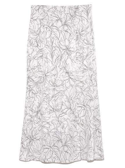 ラインフラワーナロースカート