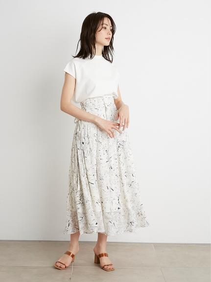 リボンジャガードプリントスカート(OWHT-0)