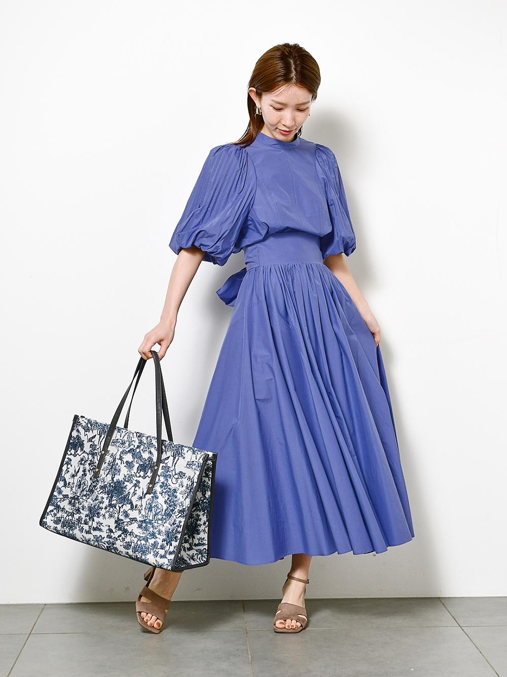 ボリュームギャザースカート(BLU-0)