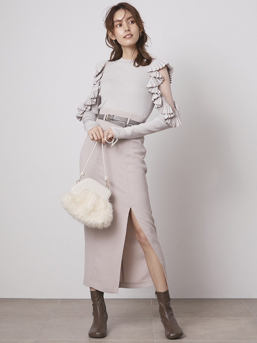 フロントスリットナロースカート(LGRY-0)