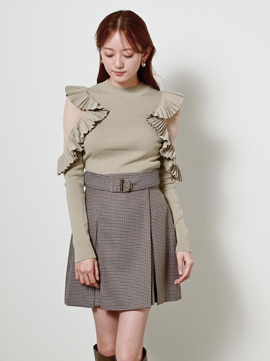 チェックミニベルティッドスカート(OWHT-0)