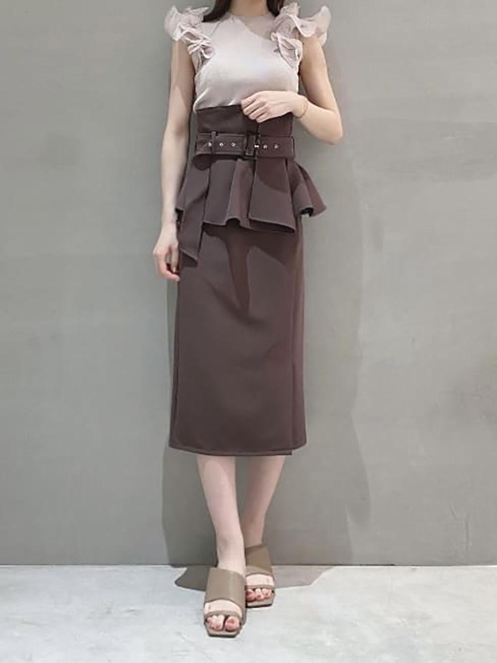 コルセットベルトタイトスカート