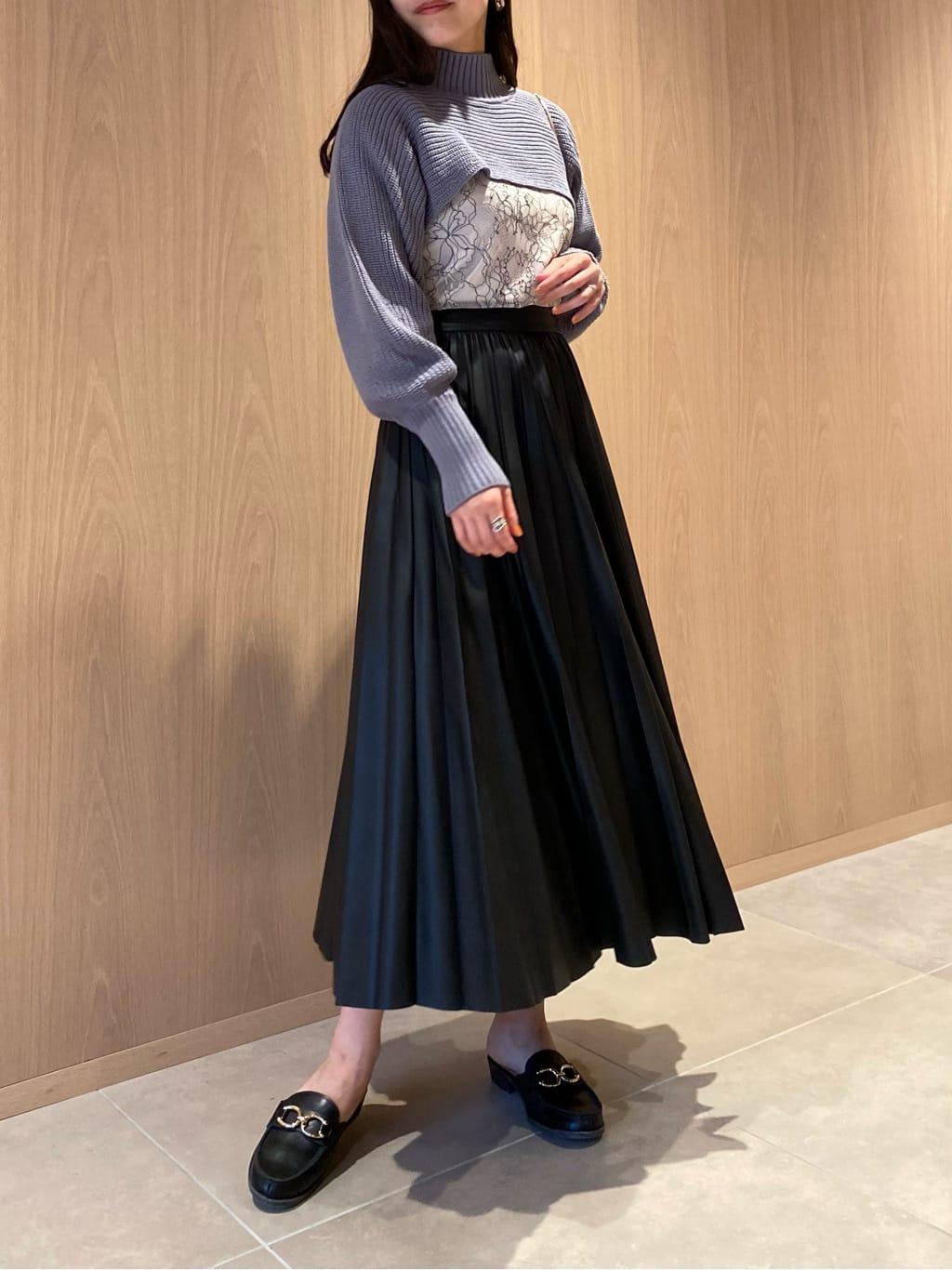 レザープリーツスカート(BLK-【ONLINE限定】00)