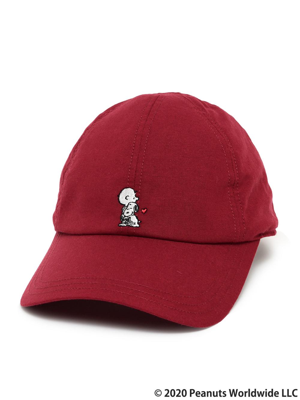 SNOOPY コラボCAP(RED-F)