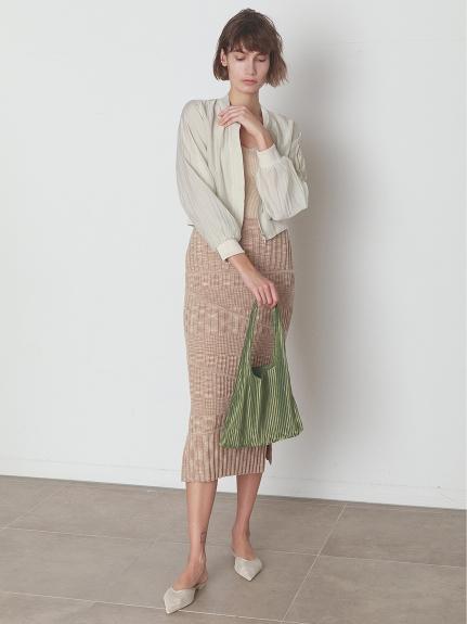 Iラインリブニットスカート