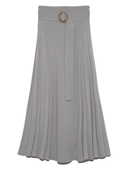 サイドランダムリブニットスカート(LGRY-F)