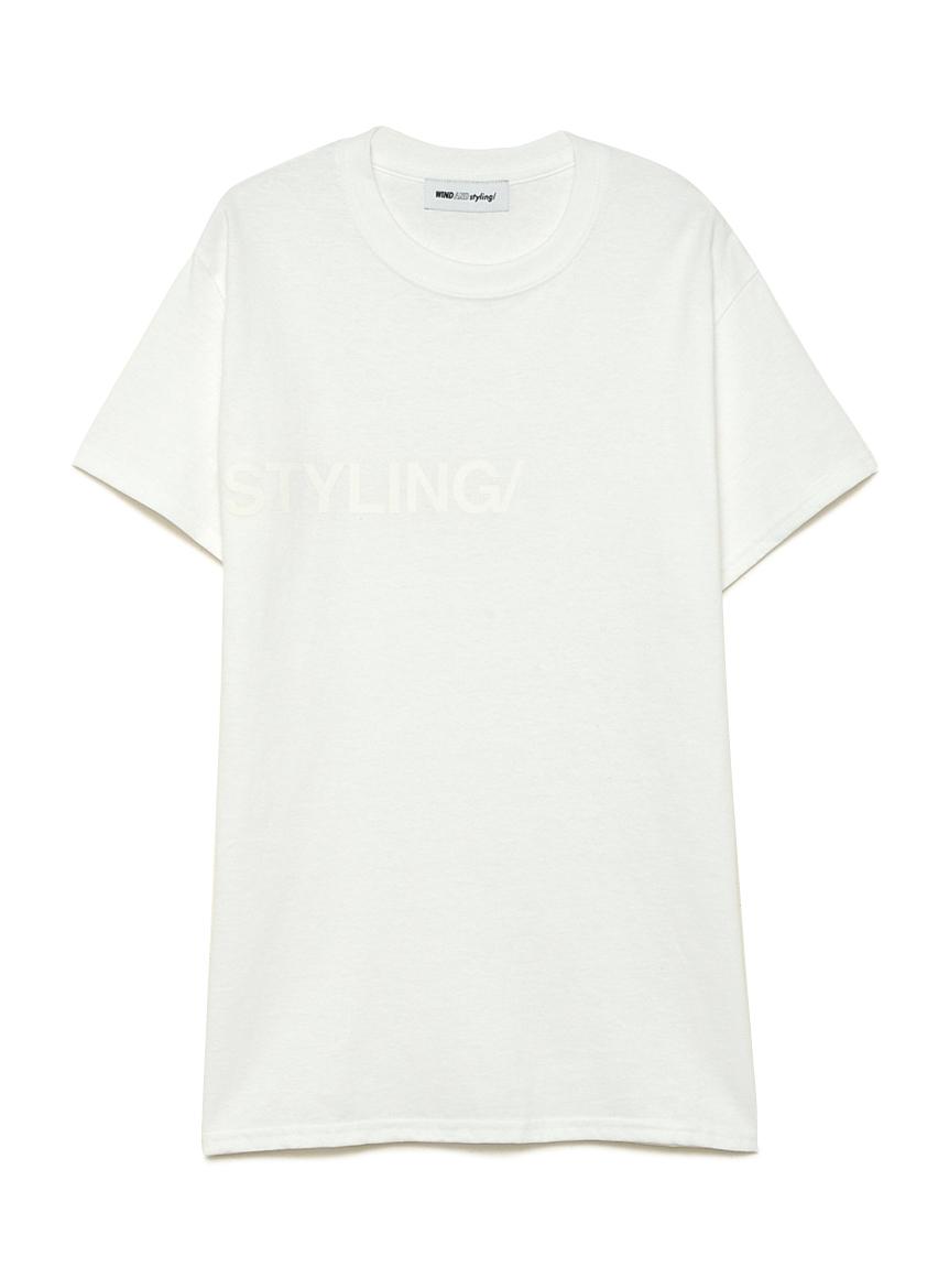 フロッキープリント Tシャツ(WHT-F)