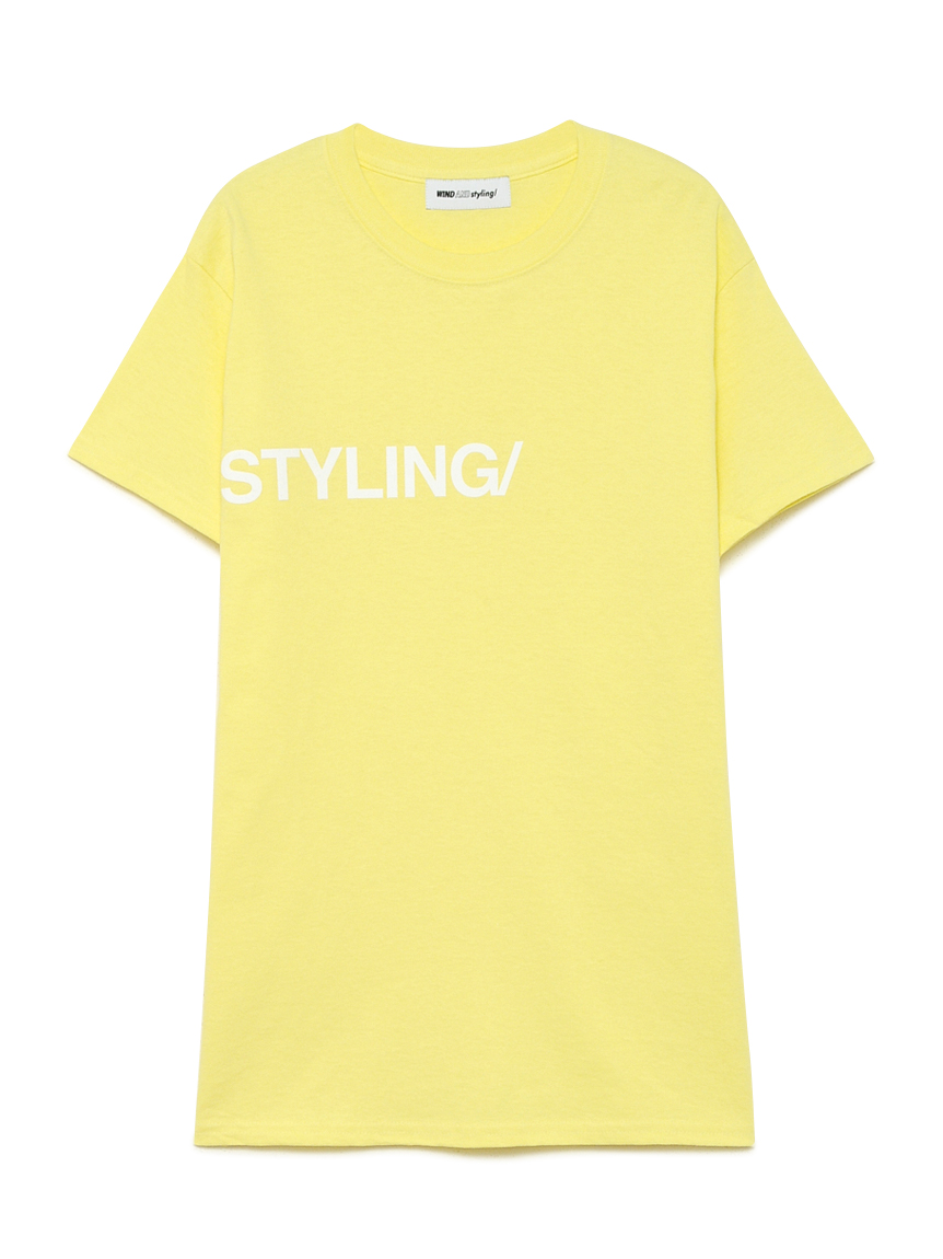 フロッキープリント Tシャツ(YEL-F)