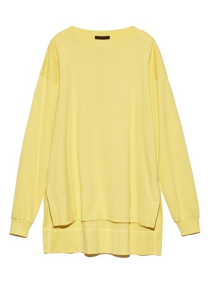 オーバーサイズロングTシャツ(YEL-F)